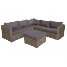Salon de jardin Wicker gris...