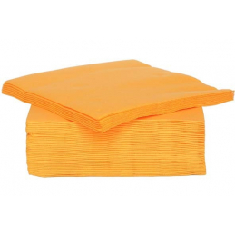 SERVIETTE 40PCS ORANGE 38X38CM