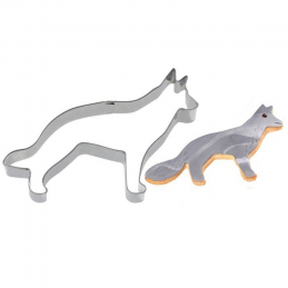 Cutter cookie chien-loup 10cm