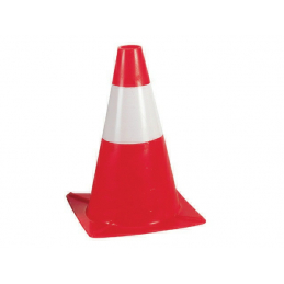 Cone balisage 50cm rouge-blanc