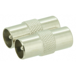 CHANGEUR COAX M-M METAL - 2PC
