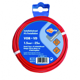 CABLE VOB 1X1.5MM² ROUGE 25M