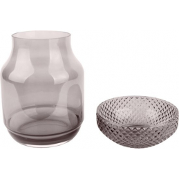 VASE BEM GLASS DARK GREY