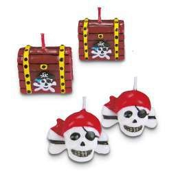 Bougie 'pirate' 3.0cm set 4...
