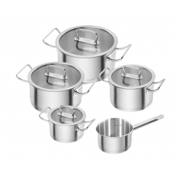 Set 4 casseroles + poelon...