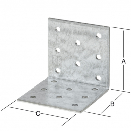 Equerre 80x80x80mm