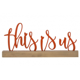 Deco 'this is us'corail...
